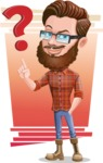 Cartoon Man dressed as Lumberjack Vector Character Illustrations - Shape 6
