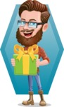 Cartoon Man dressed as Lumberjack Vector Character Illustrations - Shape 7