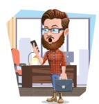 Cartoon Man dressed as Lumberjack Vector Character Illustrations - Shape 9