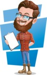 Cartoon Man dressed as Lumberjack Vector Character Illustrations - Shape 11