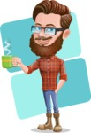 Cartoon Man dressed as Lumberjack Vector Character Illustrations - Shape 12