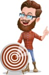 Cartoon Man dressed as Lumberjack Vector Character Illustrations - Target