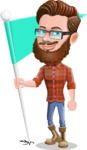 Cartoon Man dressed as Lumberjack Vector Character Illustrations - Checkpoint