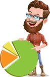 Cartoon Man dressed as Lumberjack Vector Character Illustrations - Chart