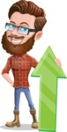 Cartoon Man dressed as Lumberjack Vector Character Illustrations - Arrow 1
