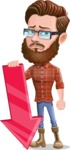 Cartoon Man dressed as Lumberjack Vector Character Illustrations - Arrow 3