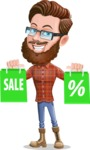 Cartoon Man dressed as Lumberjack Vector Character Illustrations - Sale 1