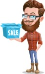 Cartoon Man dressed as Lumberjack Vector Character Illustrations - Sale 2