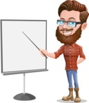 Cartoon Man dressed as Lumberjack Vector Character Illustrations - Presentation 1