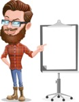 Cartoon Man dressed as Lumberjack Vector Character Illustrations - Presentation 2