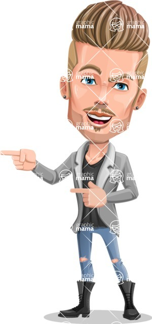 Fashion Man Cartoon Vector Character AKA Jett Dapper - Point 2
