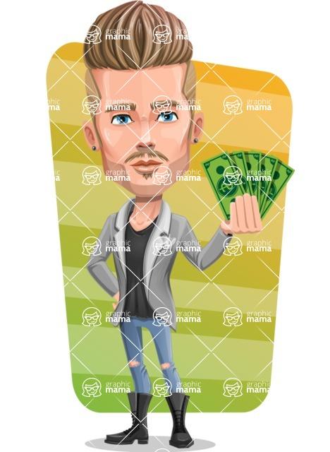 Fashion Man Cartoon Vector Character AKA Jett Dapper - Shape 5