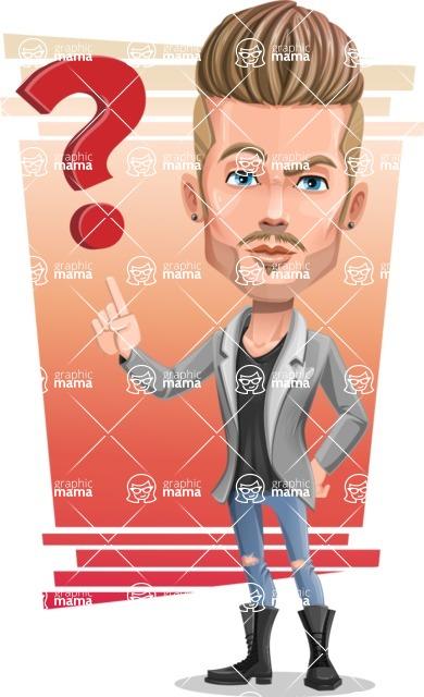 Fashion Man Cartoon Vector Character AKA Jett Dapper - Shape 6
