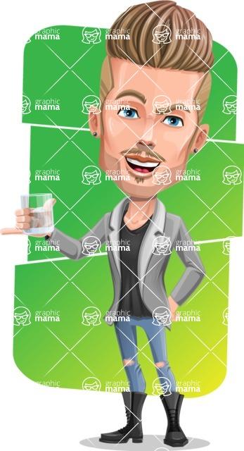 Fashion Man Cartoon Vector Character AKA Jett Dapper - Shape 8