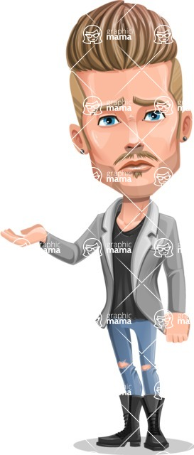 Fashion Man Cartoon Vector Character AKA Jett Dapper - Sorry