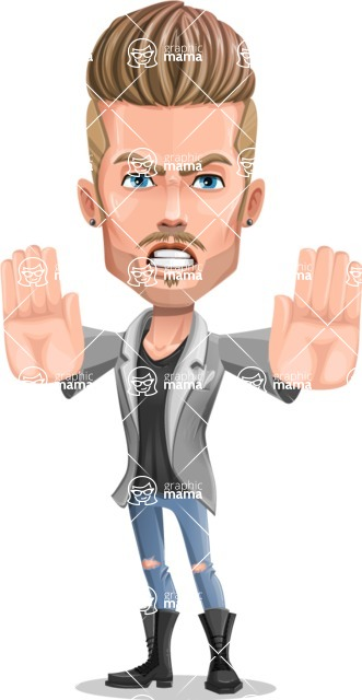 Fashion Man Cartoon Vector Character AKA Jett Dapper - Stop 2