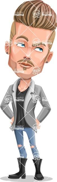 Fashion Man Cartoon Vector Character AKA Jett Dapper - Roll Eyes