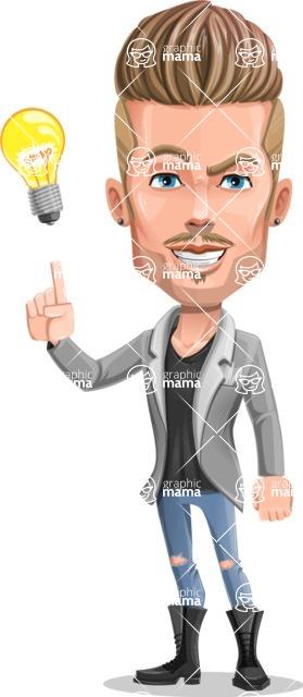Fashion Man Cartoon Vector Character AKA Jett Dapper - Idea