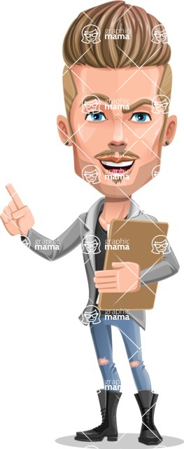 Fashion Man Cartoon Vector Character AKA Jett Dapper - Notepad 1