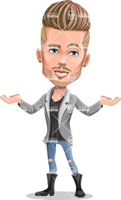 Fashion Man Cartoon Vector Character AKA Jett Dapper - Showcase 2