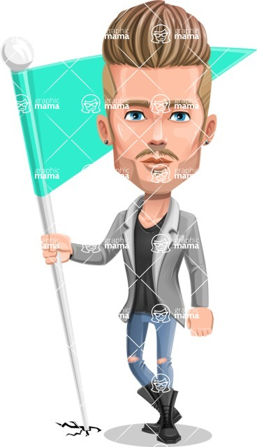 Fashion Man Cartoon Vector Character AKA Jett Dapper - Checkpoint
