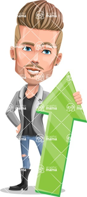Fashion Man Cartoon Vector Character AKA Jett Dapper - Arrow 1