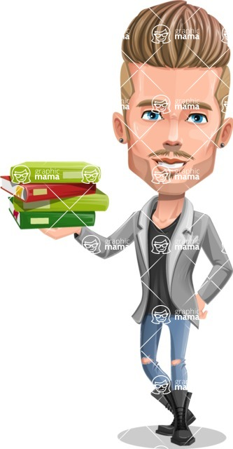 Fashion Man Cartoon Vector Character AKA Jett Dapper - Book 1