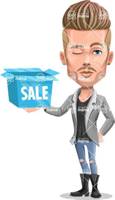 Fashion Man Cartoon Vector Character AKA Jett Dapper - Sale 2