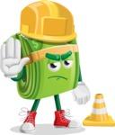 Dollar Bill Cartoon Money Vector Character - as a Construction worker