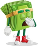 Dollar Bill Cartoon Money Vector Character - Being Bored