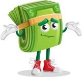 Dollar Bill Cartoon Money Vector Character - Feeling Sorry