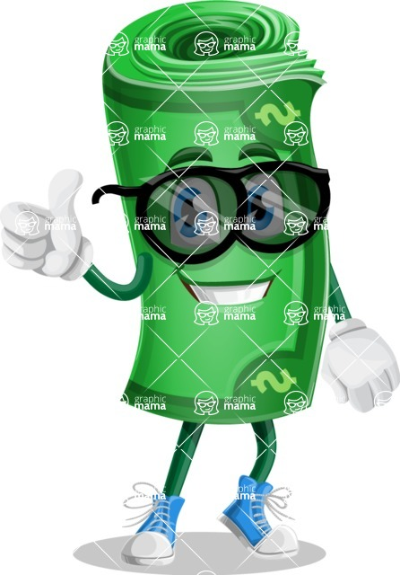 Money Cartoon Vector Character - 112 Illustrations - Being Cool with Sunglasses