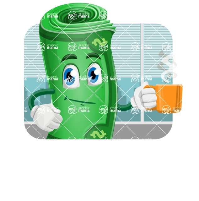 Money Cartoon Vector Character - 112 Illustrations - In Office Illustration Concept
