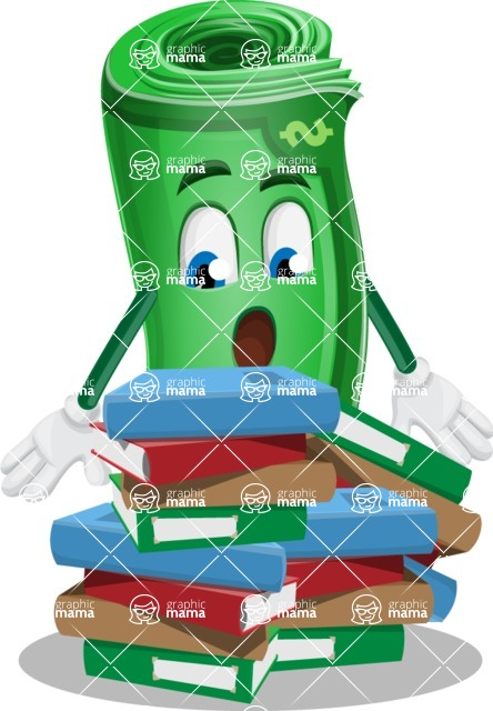 Money Cartoon Vector Character - 112 Illustrations - Learning with Books