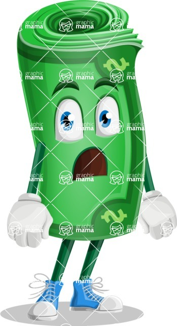 Money Cartoon Vector Character - 112 Illustrations - With Stunned Face