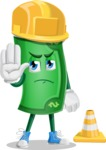 Money Cartoon Vector Character - as a Construction worker