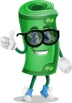 Money Cartoon Vector Character - Being Cool with Sunglasses