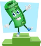 Money Cartoon Vector Character - Being On Top Illustration
