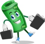 Money Cartoon Vector Character - Briefcase 3