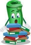 Money Cartoon Vector Character - Learning with Books