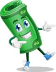 Money Cartoon Vector Character - Pointing with Hands