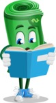 Money Cartoon Vector Character - Reading a Book