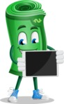 Money Cartoon Vector Character - Showing Blank Tablet