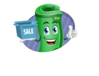 Money Cartoon Vector Character - With Simple Style Background Concept