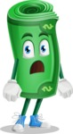 Money Cartoon Vector Character - With Stunned Face