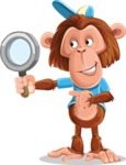 Macaque Monkey With T-Shirt and a Hat Cartoon Vector Character AKA Ron K - Search