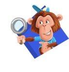 Macaque Monkey With T-Shirt and a Hat Cartoon Vector Character AKA Ron K - Shape 3