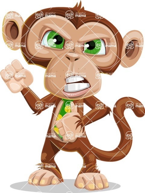 Ape Businessman Cartoon Vector Character AKA Bizzo - Angry