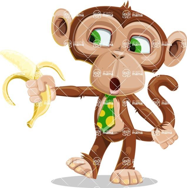 Ape Businessman Cartoon Vector Character AKA Bizzo - Banana