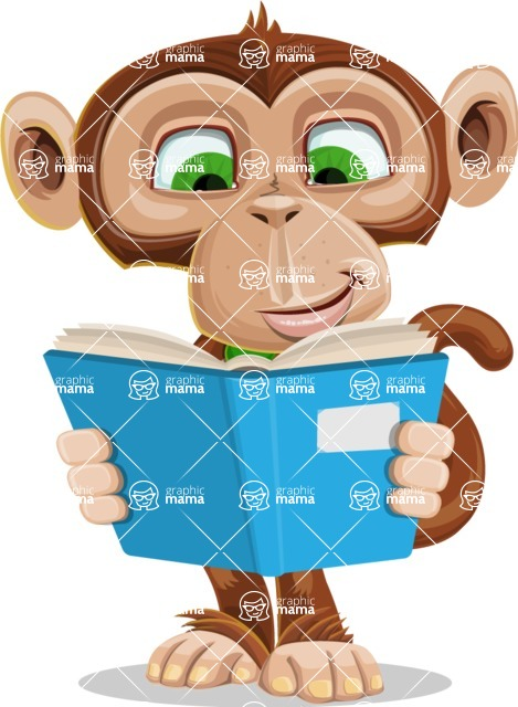 Ape Businessman Cartoon Vector Character AKA Bizzo - Book 1